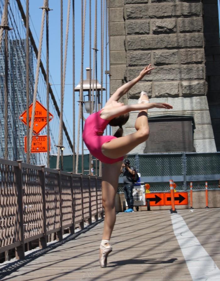 Lauren pink Brookly bridge FullSizeRender
