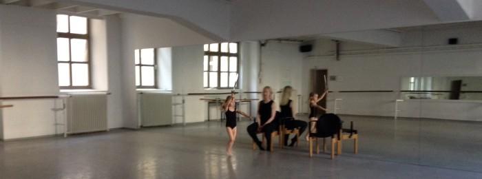 Reahearsing at Vienna State Ballet School Studios