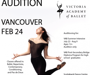Victoria Academy of Ballet Audition Feb. 24