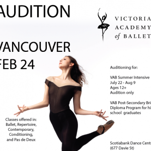 Victoria Academy of Ballet Audition Feb  24 - Caulfield School of Dance