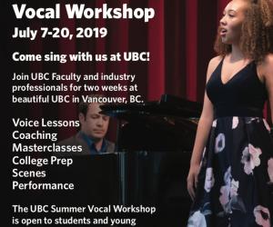 Apply Now: 2019 UBC Summer Vocal Workshop