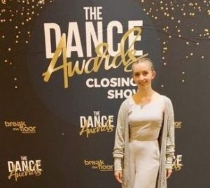 CSD Student Kaia Goddard at The Virtual Dance Awards